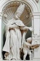 Statue av Floridus fra 1600-tallet i kirken Santa Maria di Belvedere i Città di Castello